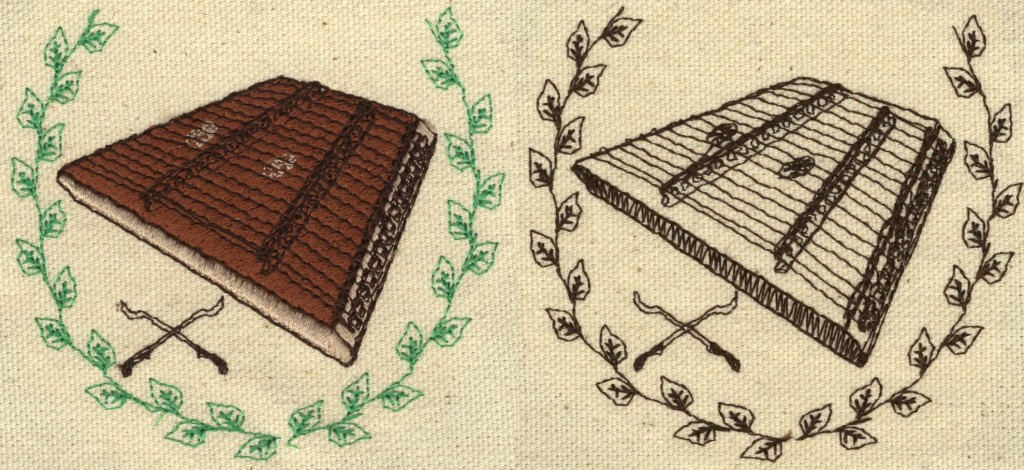 Hammered Dulcimer Embroidery Design Examples