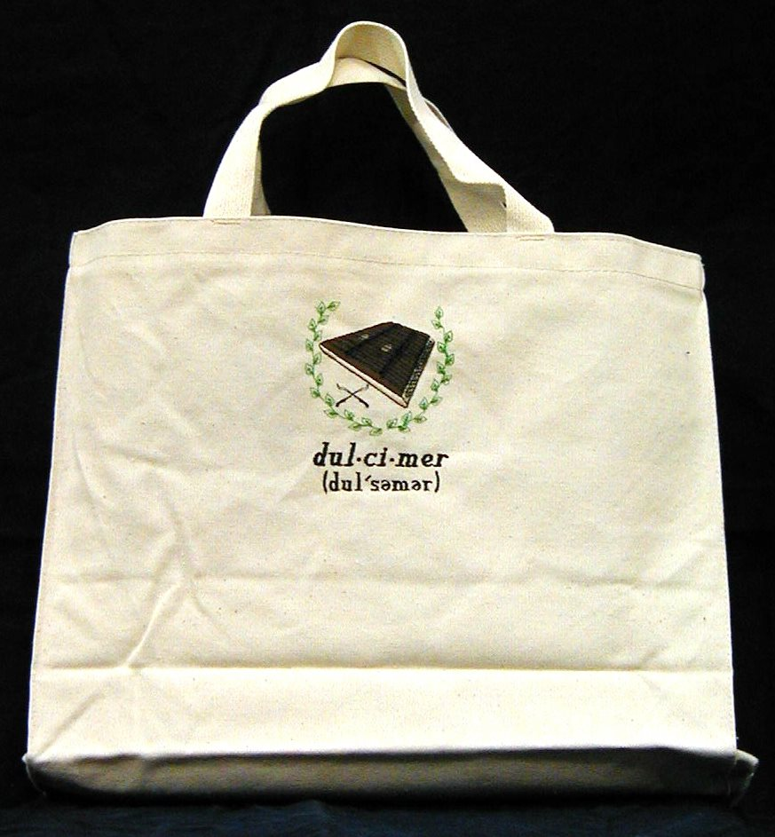 Hammered Dulcimer Tote Bag by Erich Campbell