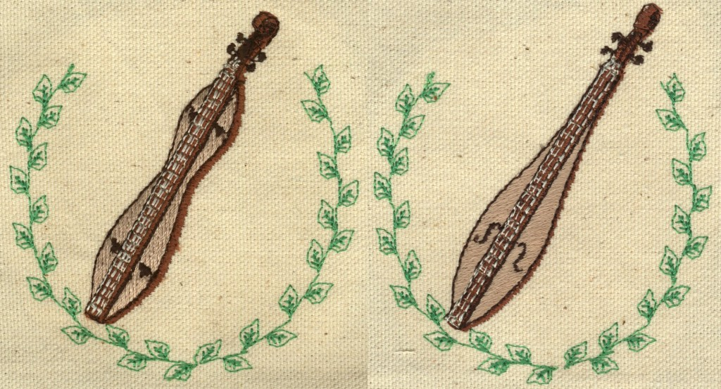 Mountain Dulcimer Embroidery Designs by Erich Campbell