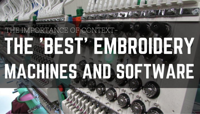 Erichcampbell Whats The Best Embroidery Machine And Software