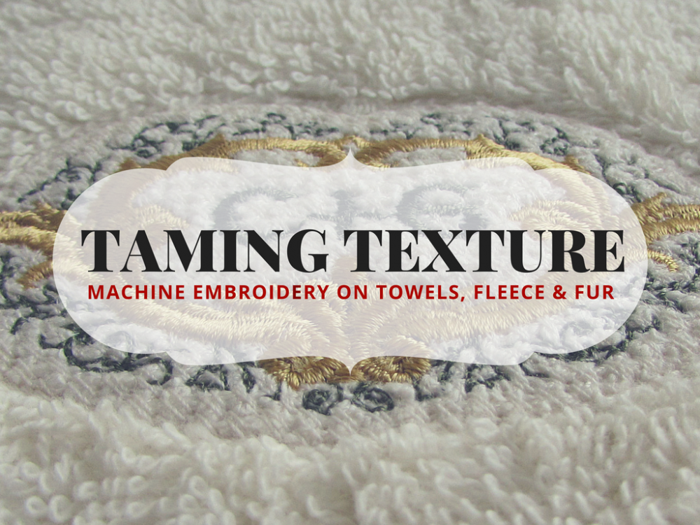 Taming Texture part 1 towels, fleece, and fur