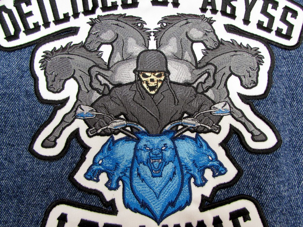 Full Jacket Back patch for Motorcycle Club by Erich Campbell