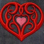 3D Foam Tribal Heart by Erich Campbell