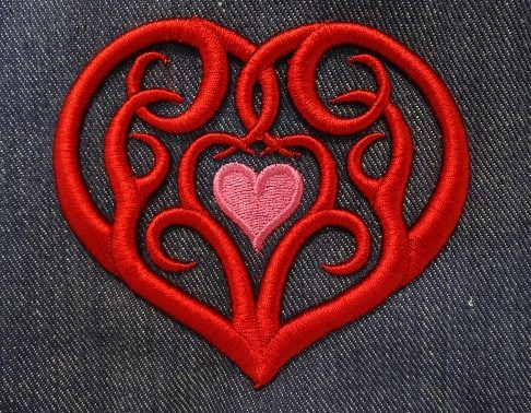 3D Foam Tribal Heart by Erich Campbell