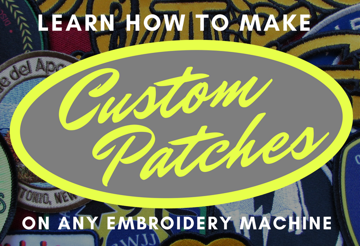 how to make a patch with an embroidery machine