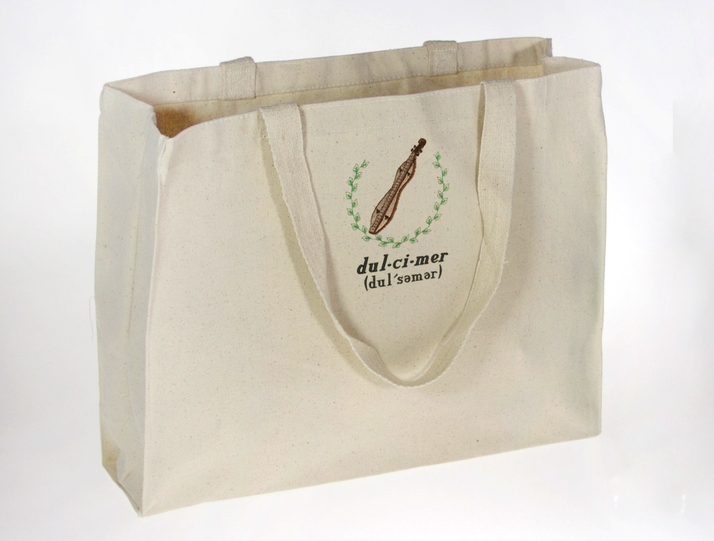 Hourglass Mountain Dulcimer Tote - with Phonetic Tag - Value through Specificity