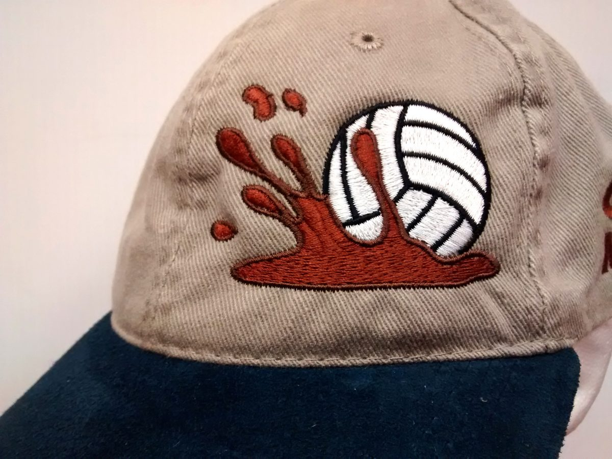 Mudd Volleyball Embroidered Cap Front Design